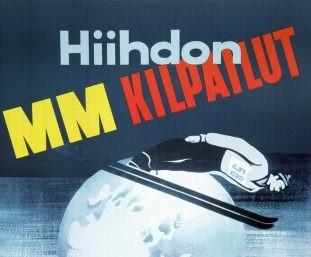Hiihdon MM-kilpailujen juliste.